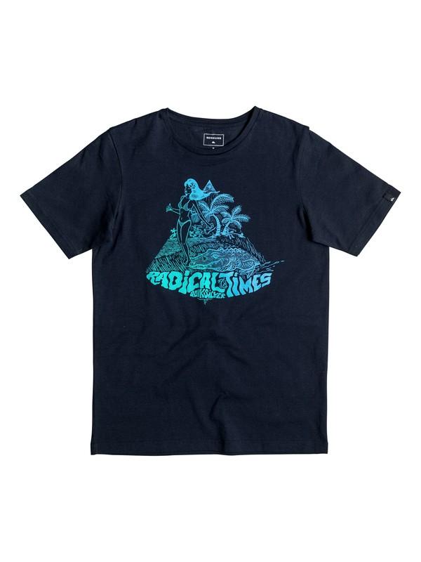 0 Classic Crocoride - T-Shirt Blau EQBZT03476 Quiksilver