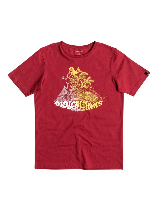 0 Classic Crocoride - T-Shirt Rot EQBZT03476 Quiksilver