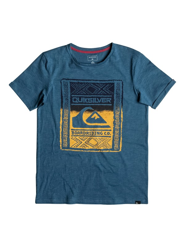 0 Slub Walled Up - Tee-Shirt Bleu EQBZT03481 Quiksilver