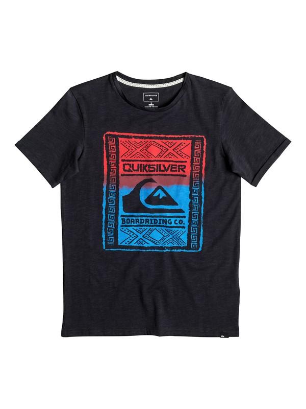 0 Slub Walled Up - Tee-Shirt Noir EQBZT03481 Quiksilver