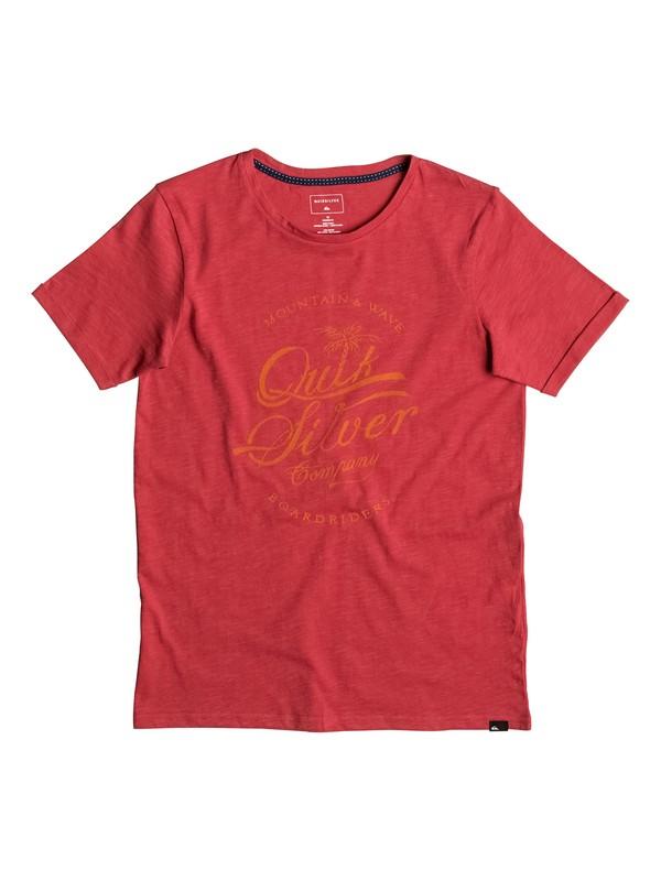 0 Slub Extention - Tee-Shirt Rouge EQBZT03482 Quiksilver