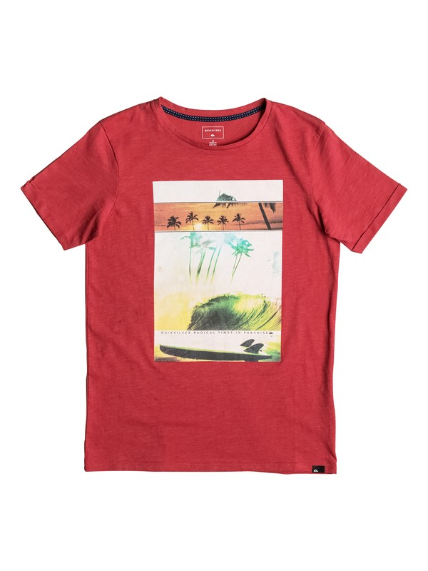 0 Slub Good Choice - Tee-Shirt Rouge EQBZT03483 Quiksilver