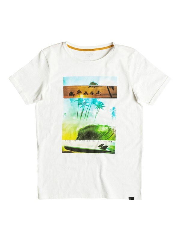 0 Slub Good Choice - T-Shirt Weiss EQBZT03483 Quiksilver