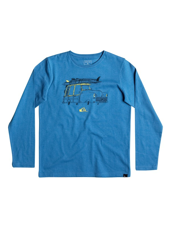 0 Classic Tardy Car - Tee-Shirt à manches longues Bleu EQBZT03487 Quiksilver
