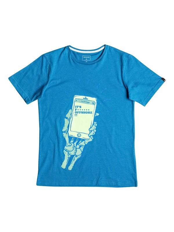 0 Classic Offshore - Tee-Shirt Bleu EQBZT03488 Quiksilver