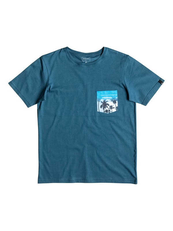0 Pickup - Tee-Shirt à poche Bleu EQBZT03497 Quiksilver