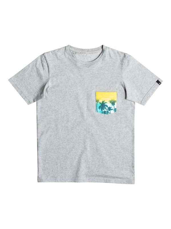 0 Pickup - Tee-Shirt à poche Gris EQBZT03497 Quiksilver