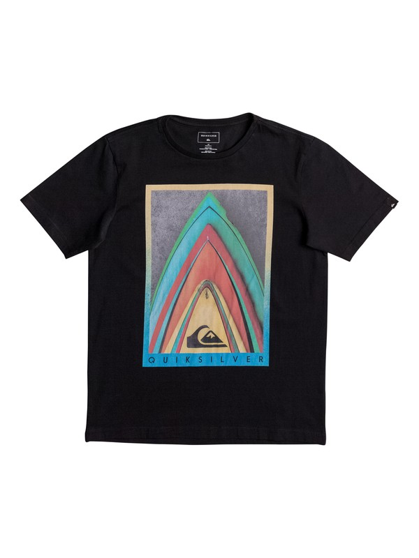 0 Classic Stacked - T-Shirt Black EQBZT03562 Quiksilver