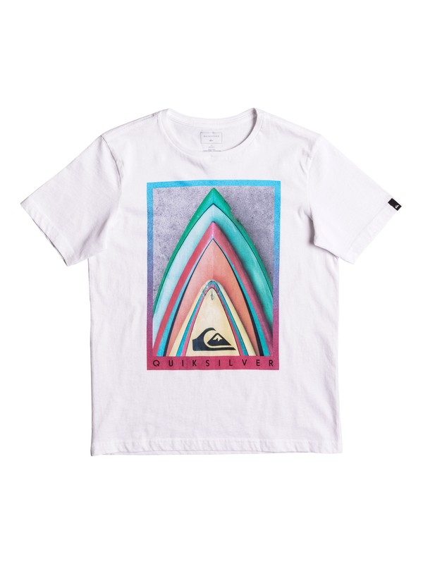 0 Classic Stacked - T-Shirt White EQBZT03562 Quiksilver