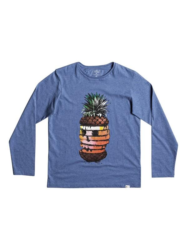 0 Classic Hot Pineapple - T Shirt à manches longues Bleu EQBZT03574 Quiksilver