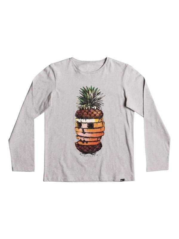 0 Classic Hot Pineapple - Long Sleeve T-Shirt Gray EQBZT03574 Quiksilver