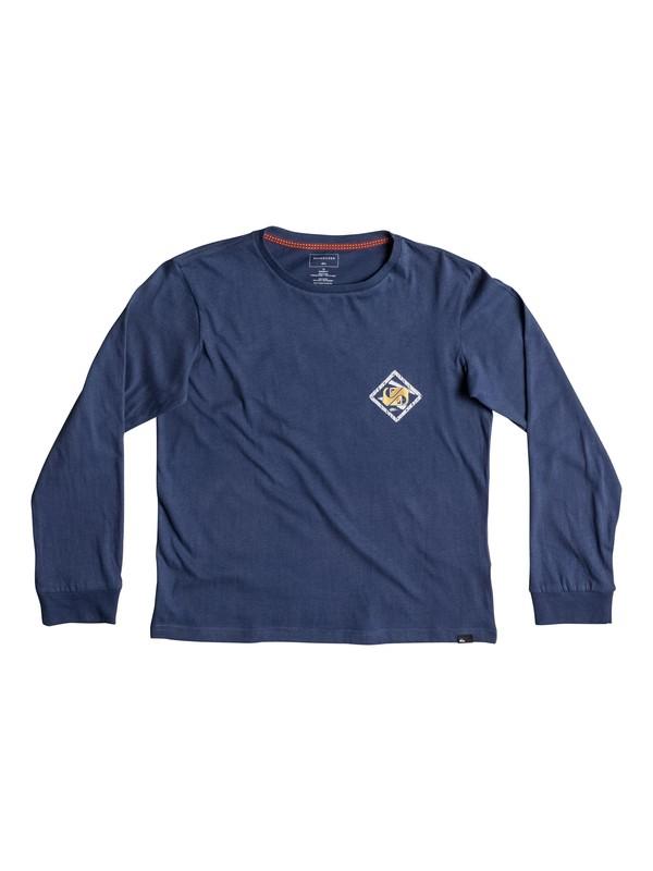 0 Carbon Finish 80 Prism - Super-Soft Long Sleeve T-Shirt Blue EQBZT03580 Quiksilver