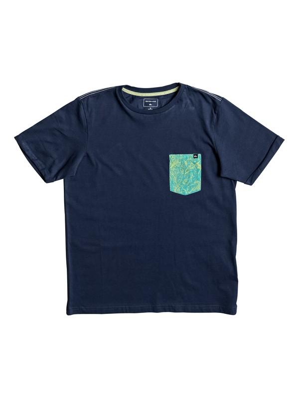 0 Jungle - T Shirt col rond Bleu EQBZT03582 Quiksilver