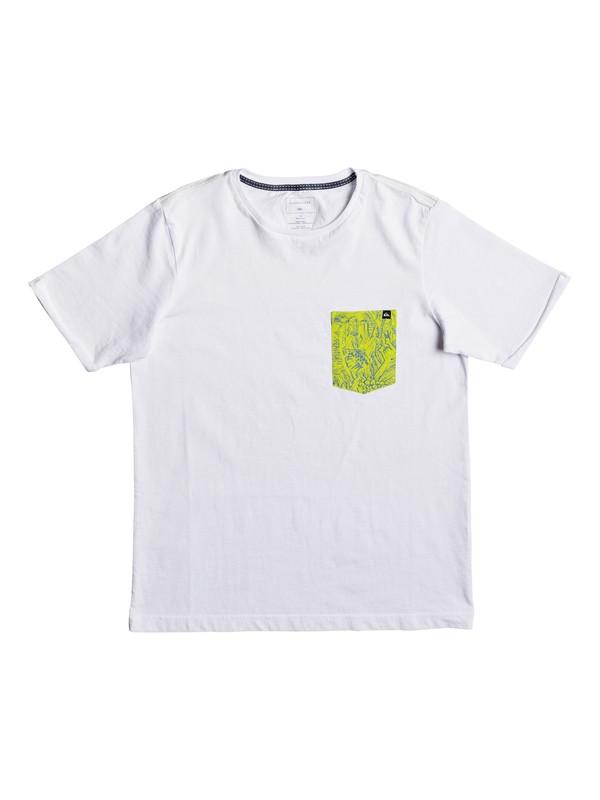 0 Jungle - T Shirt col rond Blanc EQBZT03582 Quiksilver