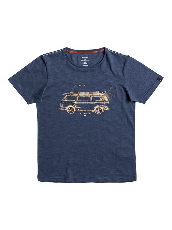 0 Happy Van Slub - T Shirt Bleu EQBZT03587 Quiksilver