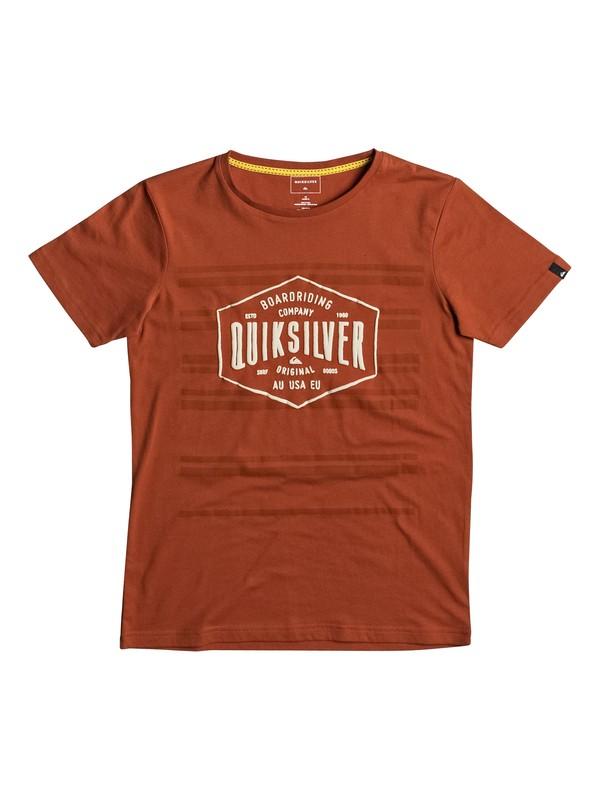 0 Neverlost Striped - T Shirt Rouge EQBZT03588 Quiksilver