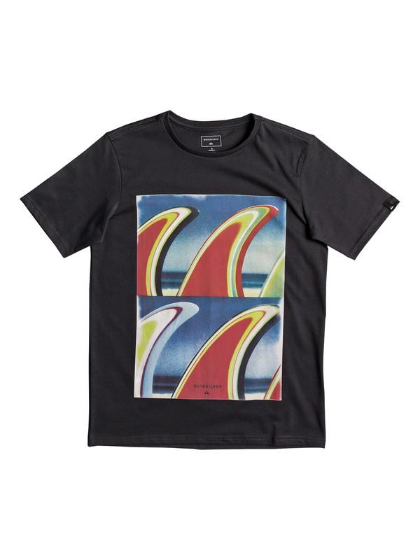 0 Classic Fin Fanatic - T Shirt col rond Noir EQBZT03673 Quiksilver