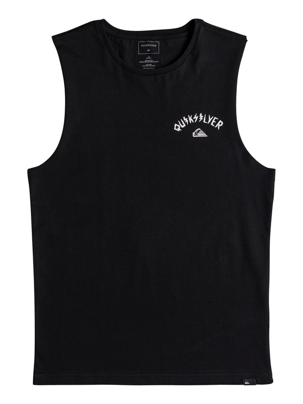 0 Muscle Walls Of Death - T Shirt col rond Noir EQBZT03688 Quiksilver