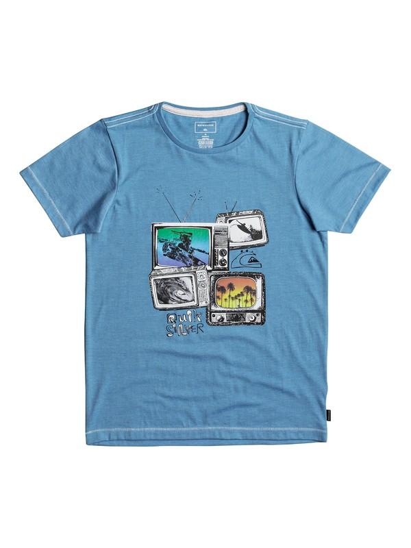0 Heather Super TV - T Shirt col rond Bleu EQBZT03691 Quiksilver