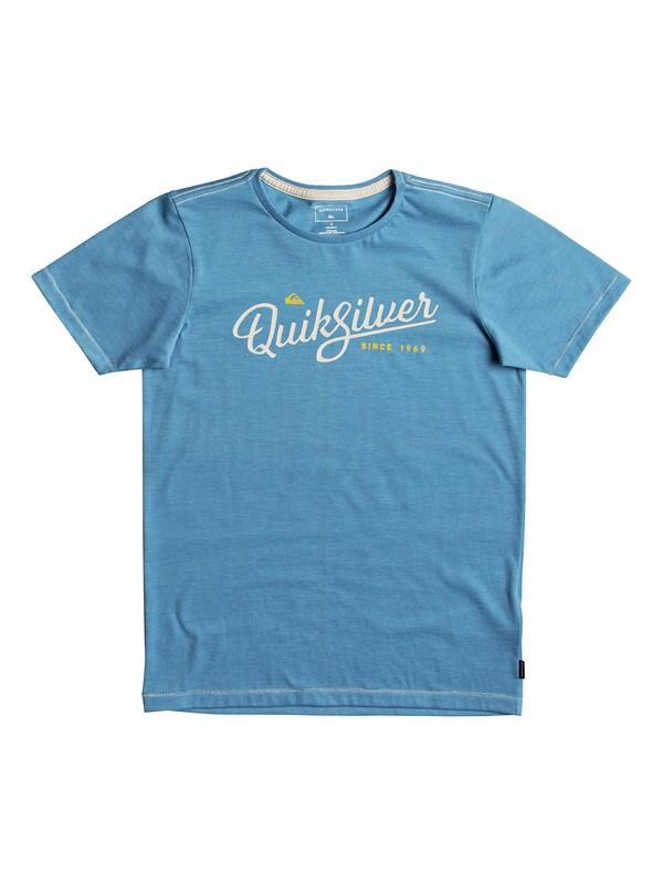 0 Heather Wavey Glaze - T Shirt col rond Bleu EQBZT03693 Quiksilver