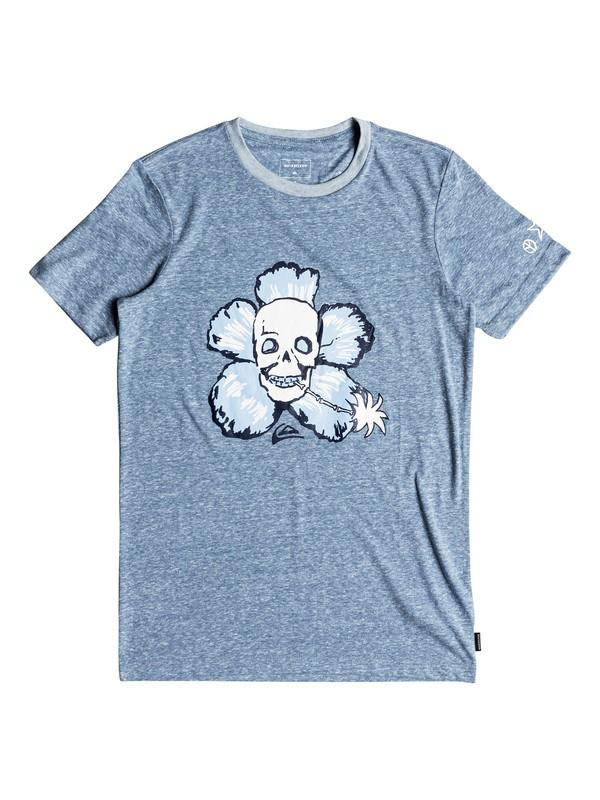 0 Triblend Magic Flower - T Shirt col rond Bleu EQBZT03695 Quiksilver