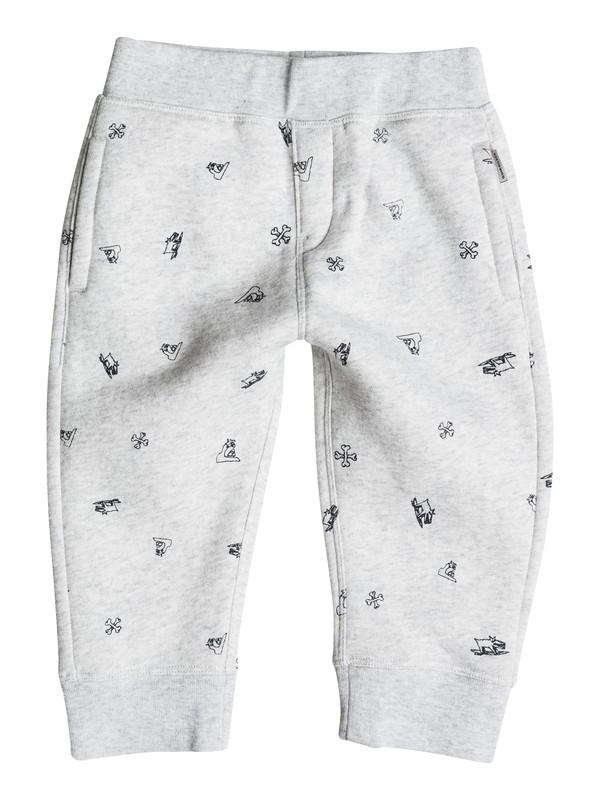 0 Ghetto Tribe - Pantalon en Molleton Gris EQIFB03010 Quiksilver