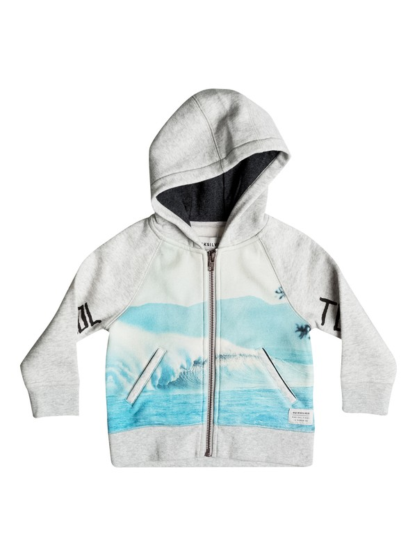 0 Photoprint - Sweat à capuche zippé Gris EQIFT03017 Quiksilver