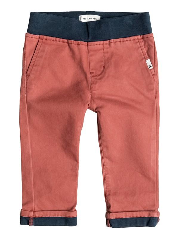 0 Krandy Contrast - Pantalon chino Rouge EQINP03019 Quiksilver