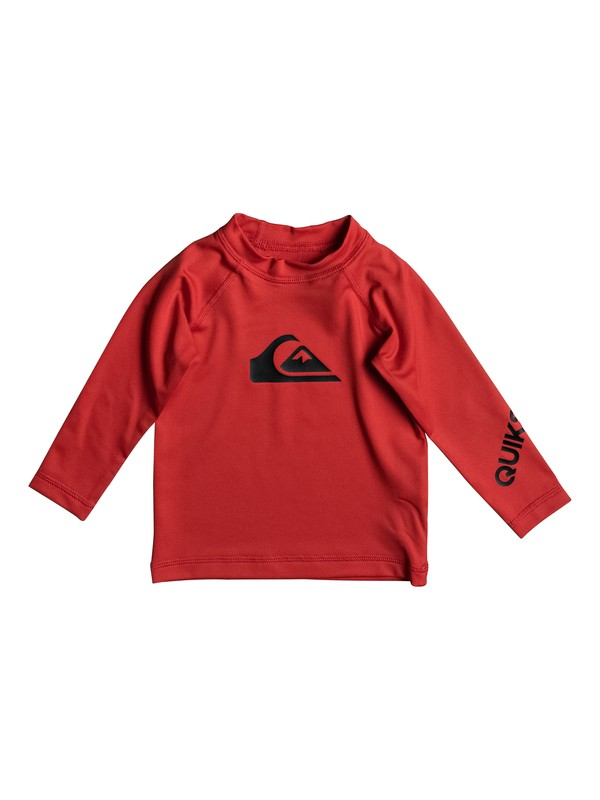0 Baby All Time Long Sleeve Rashguard Red EQIWR03009 Quiksilver