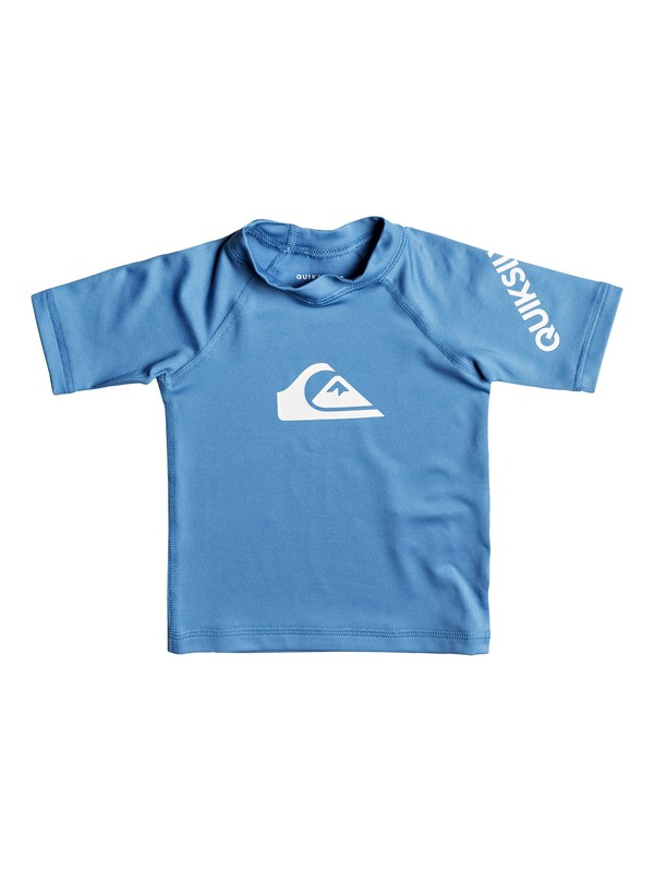 0 Baby All Time Short Sleeve Rashguard Blue EQIWR03010 Quiksilver