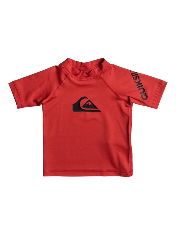 0 Baby All Time Short Sleeve Rashguard Red EQIWR03010 Quiksilver