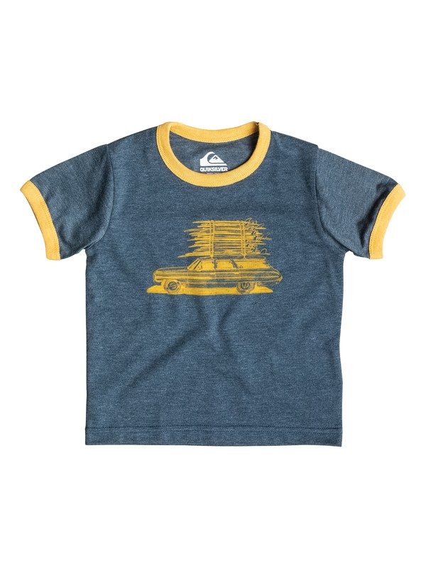 0 Heather Board Wagon - T-shirt Bleu EQIZT03016 Quiksilver