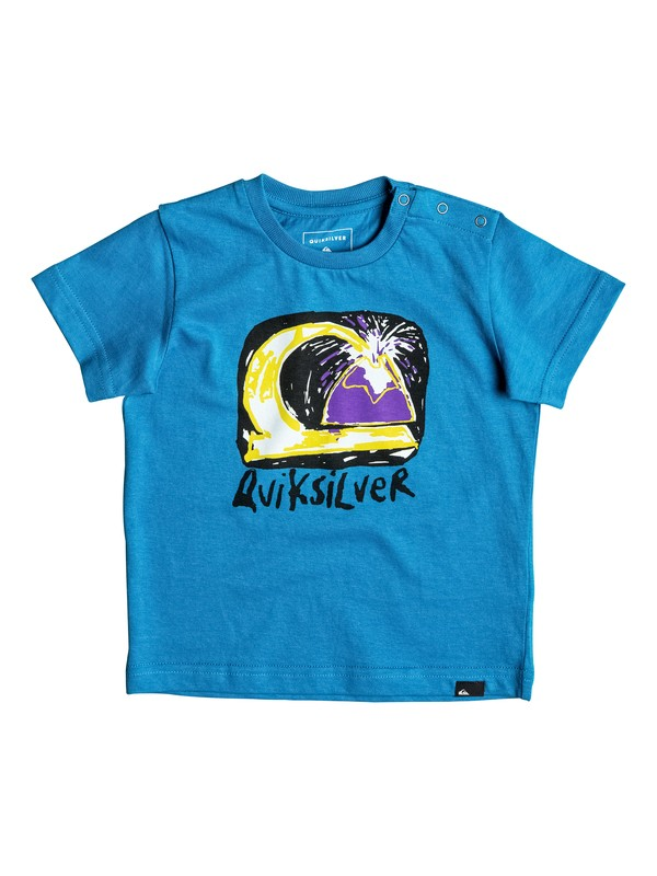 0 Classic Magic Volcano - Tee-Shirt Bleu EQIZT03023 Quiksilver
