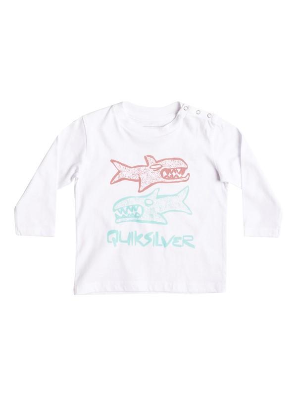 0 Classic Double Fish - Tee-Shirt à manches longues Blanc EQIZT03027 Quiksilver