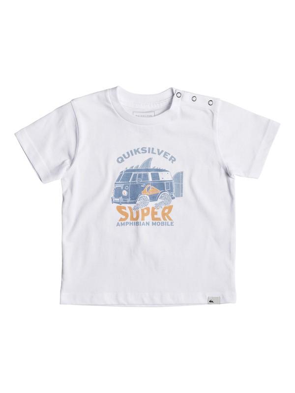 0 Classic Amphibian - T Shirt col rond Blanc EQIZT03033 Quiksilver