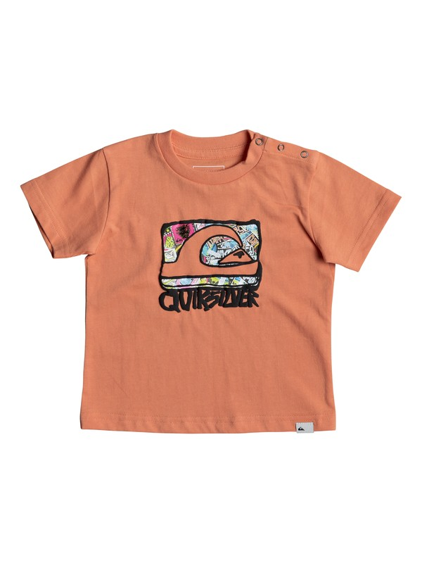 0 Classic Wemi - T Shirt col rond Orange EQIZT03034 Quiksilver