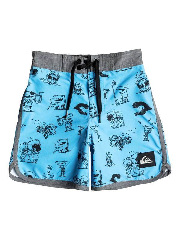 "0 Boy's 2-7 Dark Doggy 14.5"" Boardshorts  EQKBS03083 Quiksilver"