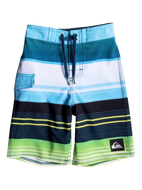 "0 Boy's 2-7 Everyday Stripe Vee 14.5"" Boardshorts  EQKBS03089 Quiksilver"