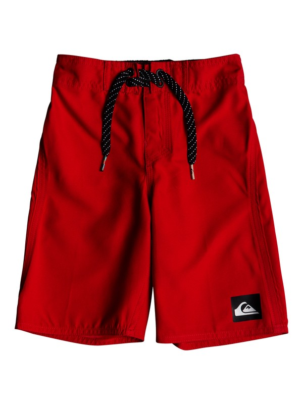 "0 Boys 2 - 7 Highline Kaimana 14"" Boardshorts Red EQKBS03151 Quiksilver"