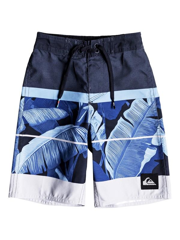 "0 Boys 2 - 7 Slab Island 14"" Boardshorts Blue EQKBS03170 Quiksilver"