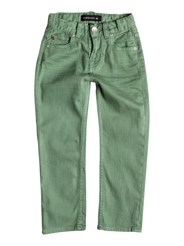 0 Distorsion Colors - Jean coupe slim Vert EQKDP03044 Quiksilver
