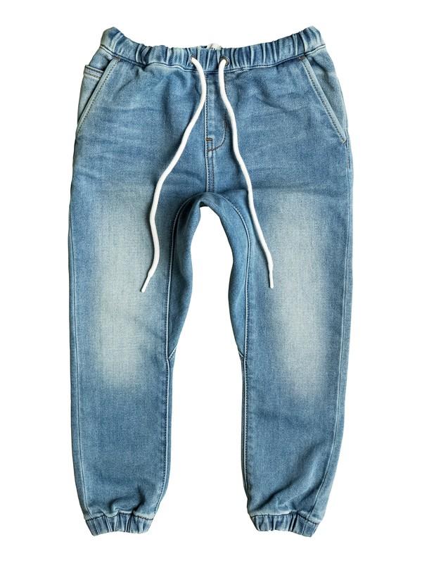 0 Fonic Creamy - Shorts en molleton denim coupe slim Bleu EQKDP03064 Quiksilver