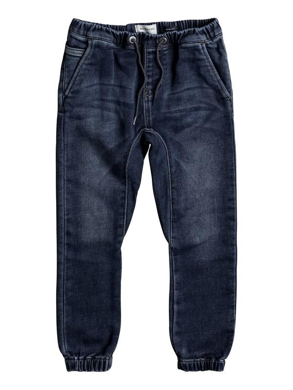 0 Fonic Hash Blue - Pantalon de jogging en denim coupe slim  EQKDP03067 Quiksilver