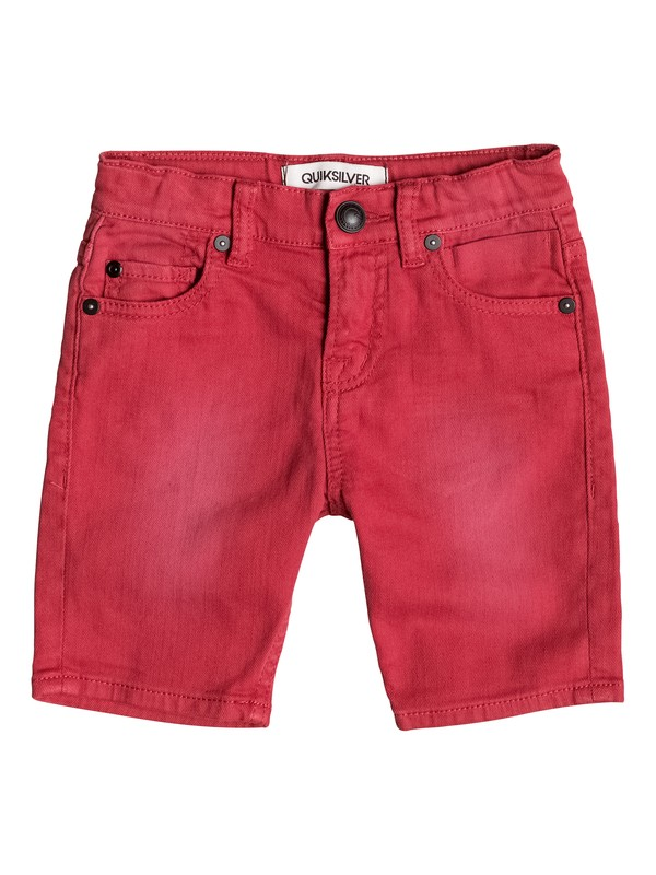 0 Distorsion Colors - Short denim Rouge EQKDS03010 Quiksilver