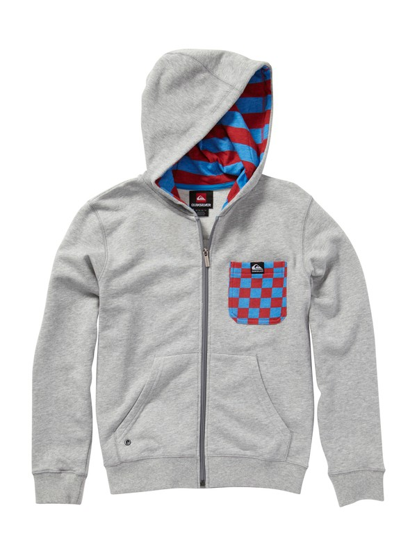 0 Boys 2-7 Solana Checks Hooded Sweatshirt  EQKFT00006 Quiksilver