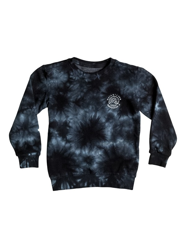 0 Earths Past - Sweat Noir EQKFT03139 Quiksilver