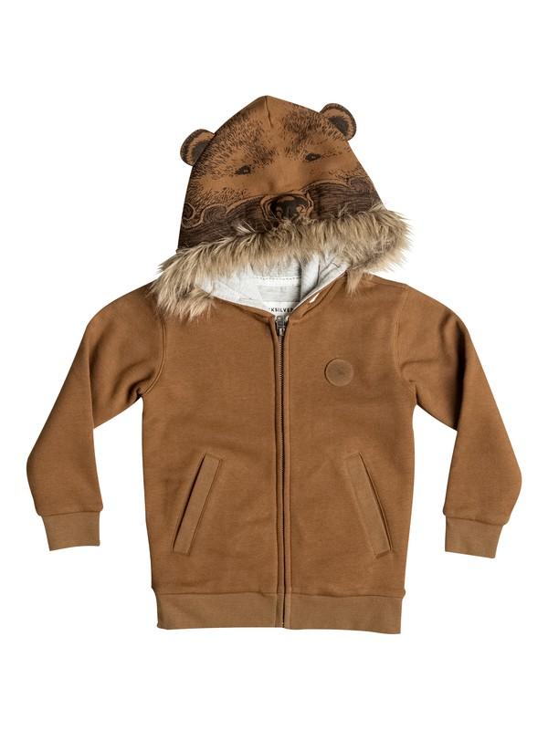 0 Bear - Sweat a capuche zippé Marron EQKFT03143 Quiksilver
