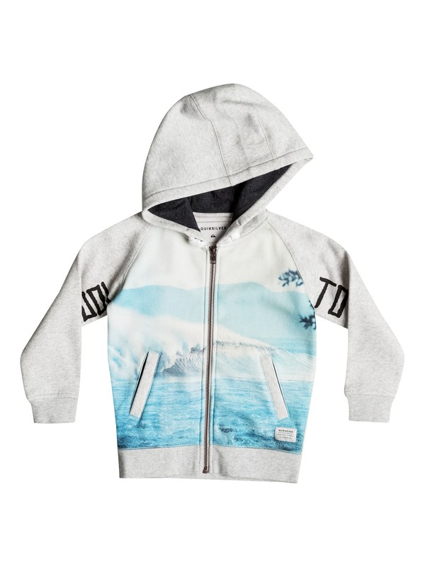 0 Photoprint - Sweat à capuche zippé Gris EQKFT03153 Quiksilver