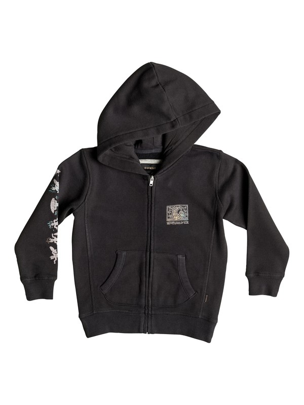 0 Boy's 2-7 Fine Art Zip-Up Hoodie  EQKFT03163 Quiksilver