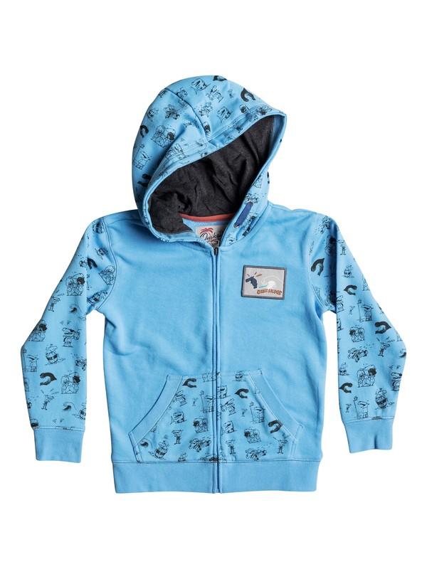 0 Quiksilver Dog - Sweat à capuche zippé Bleu EQKFT03183 Quiksilver